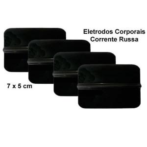 Eletrodos Silicone Corporal 7x5cm Emb com 4 UN HTM Cod. 3130