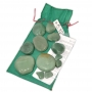 Kit 12 Pedras Quentes Quartzo Verde
