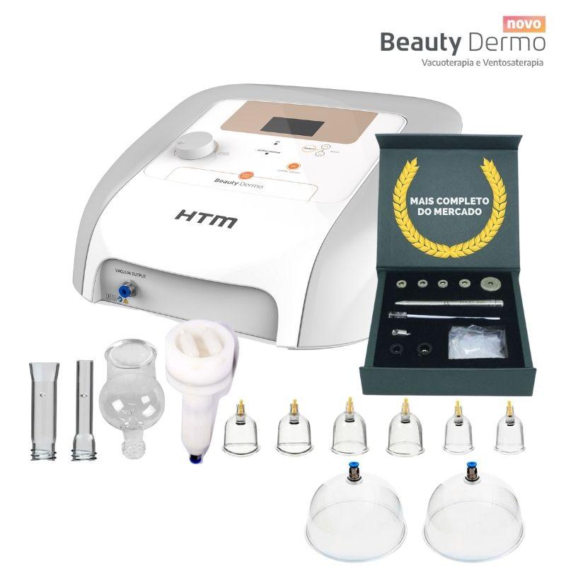 Aparelho Beauty Dermo Htm Com Peeling Diamante, Pump e caneta extratora Face Clean