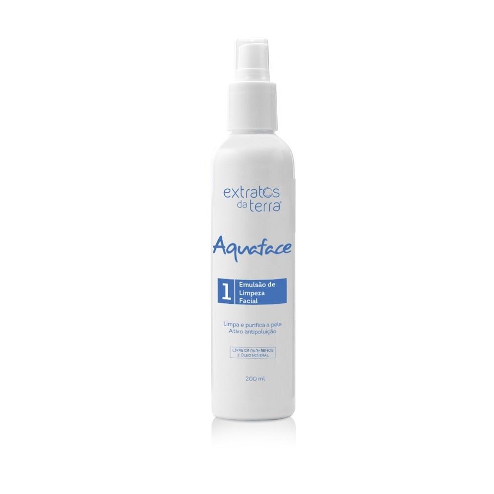 Aquaface Emulsao de Limpeza Facial 200ml Extratos da Terra