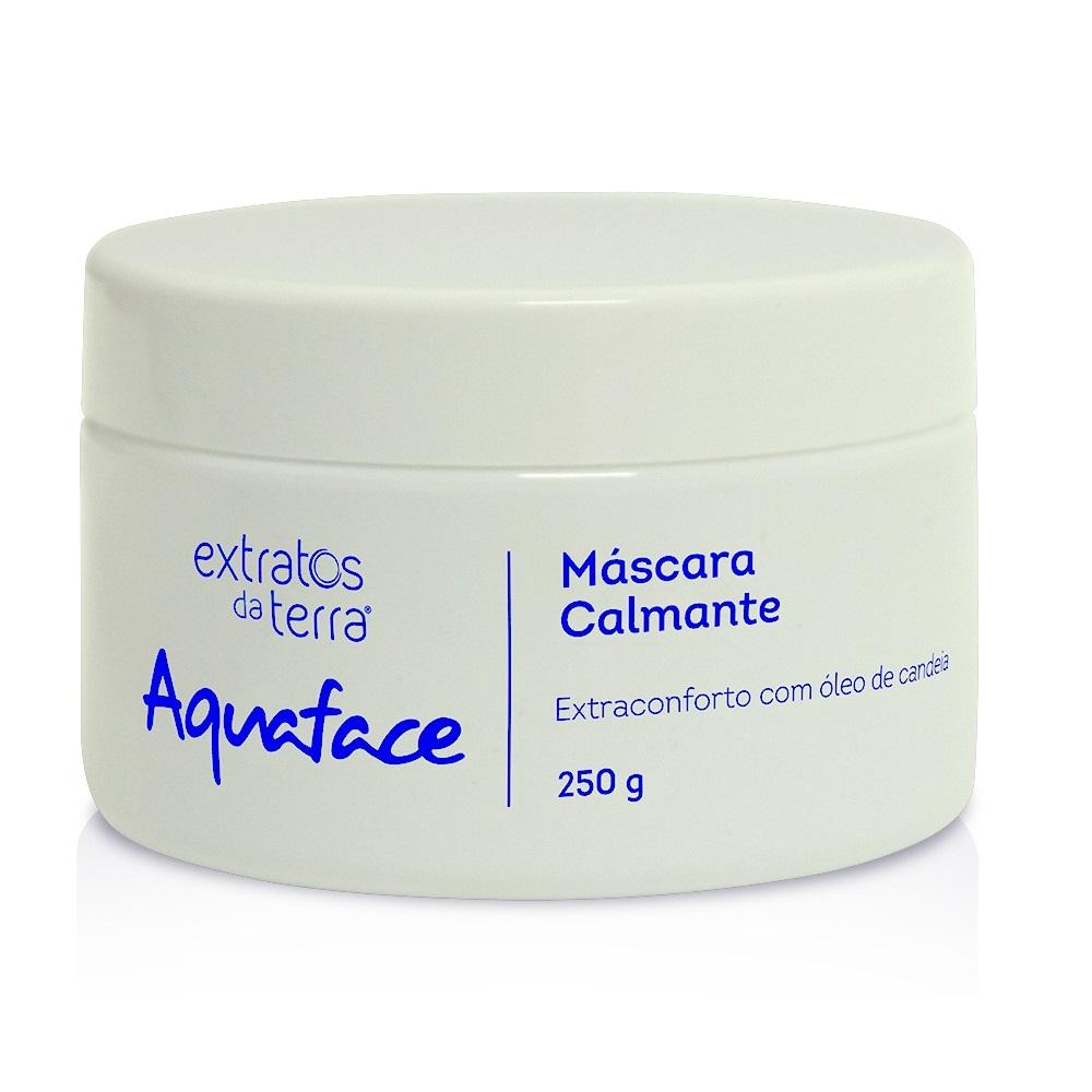 Aquaface Mascara Cremosa Facial Calmante 250g Extratos da Terra