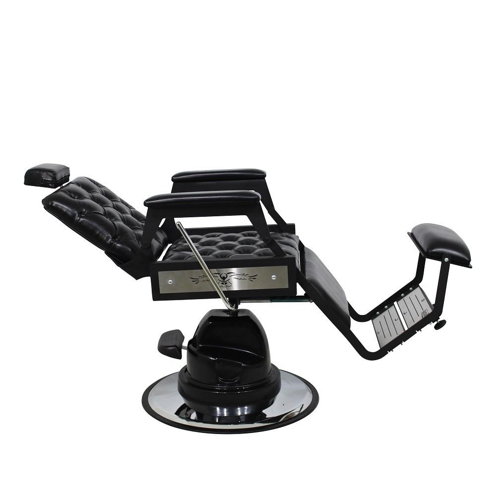 Cadeira de Barbeiro Reclinavel Silver Hawk com Captone Kixiki