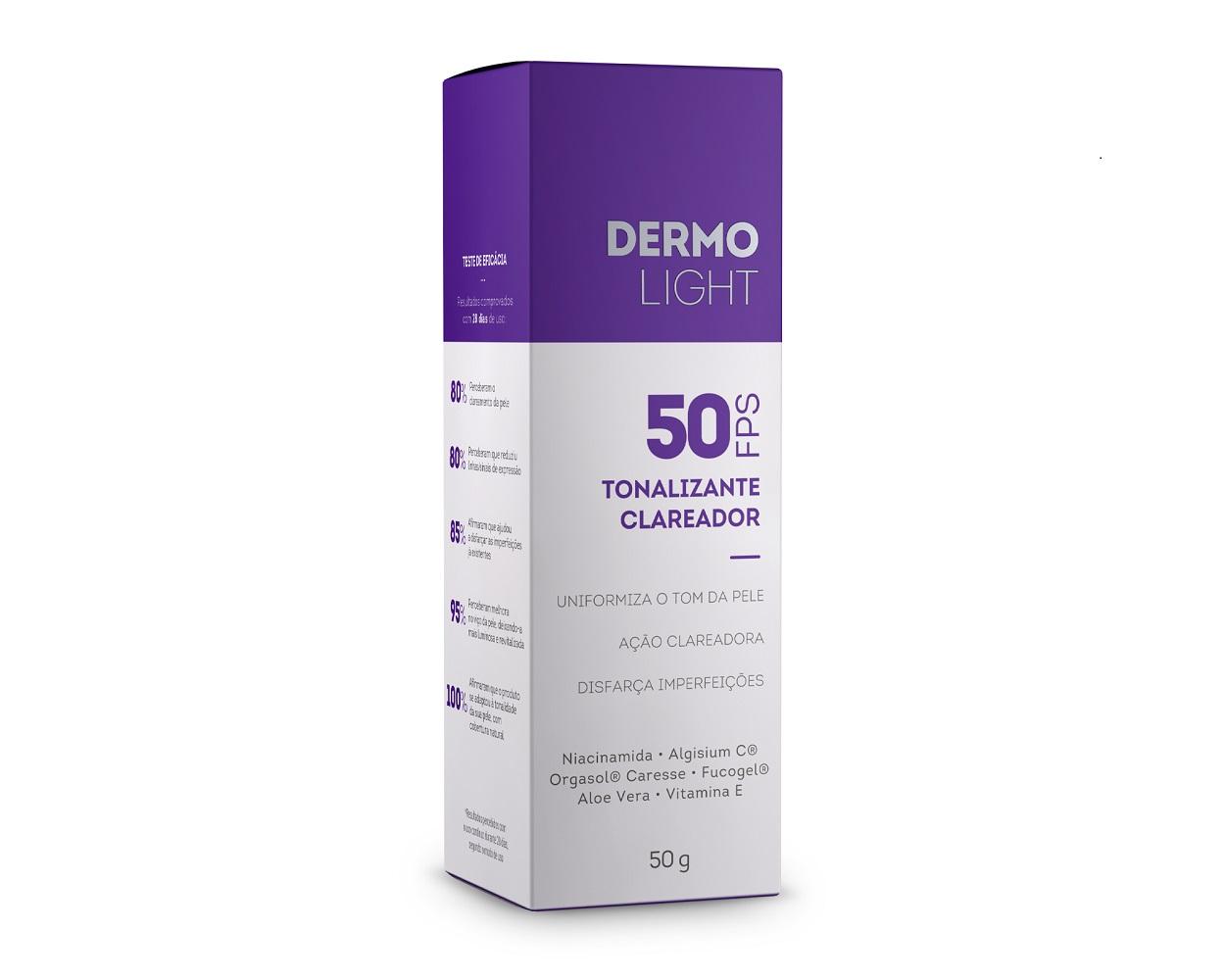 Dermolight Tonalizante Clareador FPS 50 50g Extratos da Terra