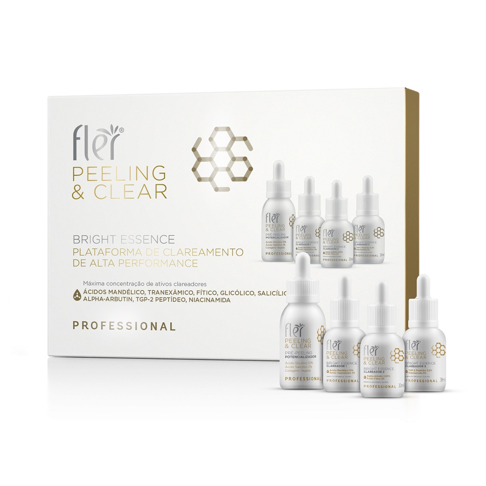 Kit Bright Essence Plataforma de Clareamento de Alta Performance Fler