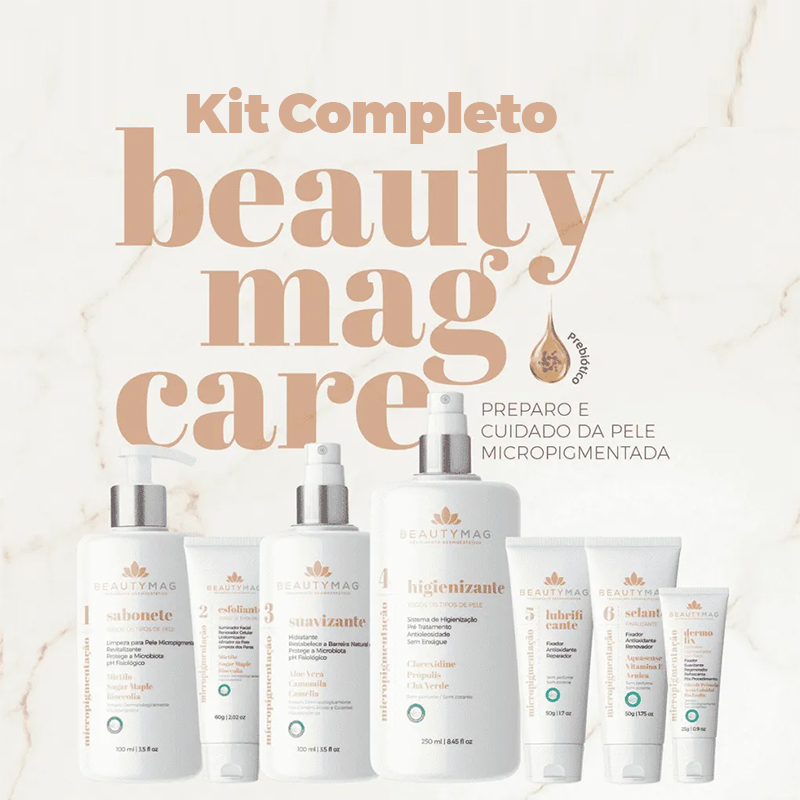 Kit completo Beautymag pre e pos micropigmentacao