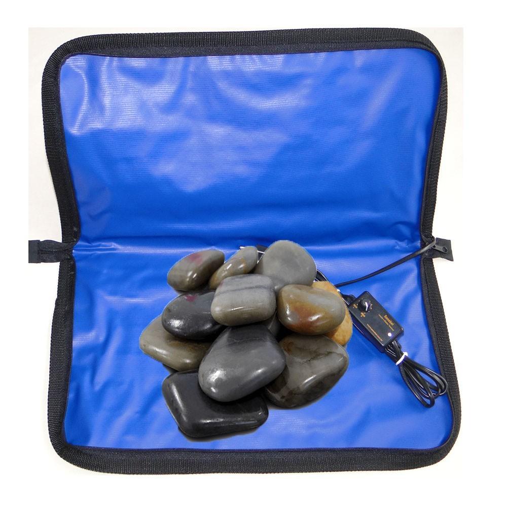 Kit De Pedras Quentes Com Bolsa Termica