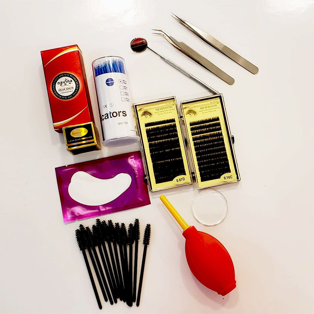 Kit para alongamento de Cilios