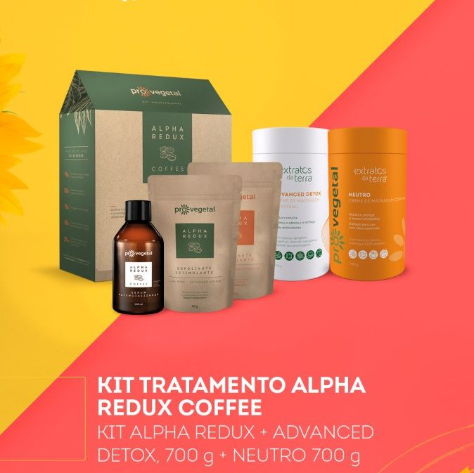 Kit Reducao de Medidas Alpha Redux Coffee + Detox + Neutro