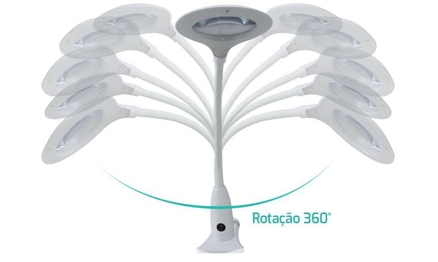 Lupa Smart LED Apoio de Mesa