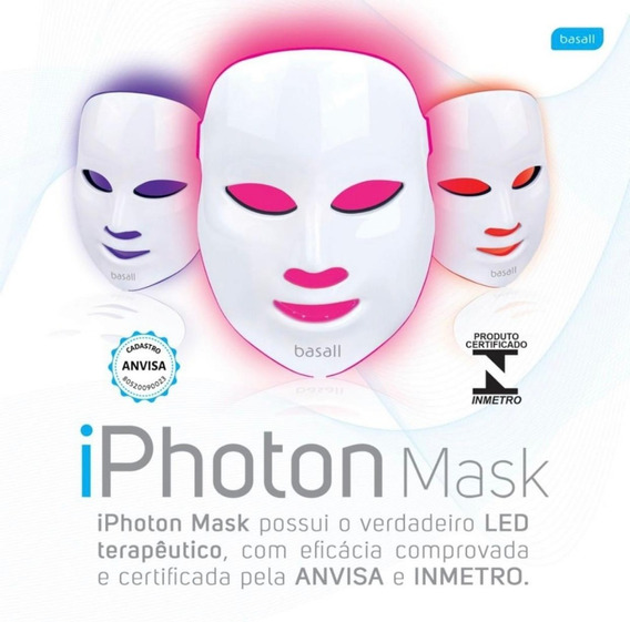 Mascara de LED com ANVISA iPhoton Mask