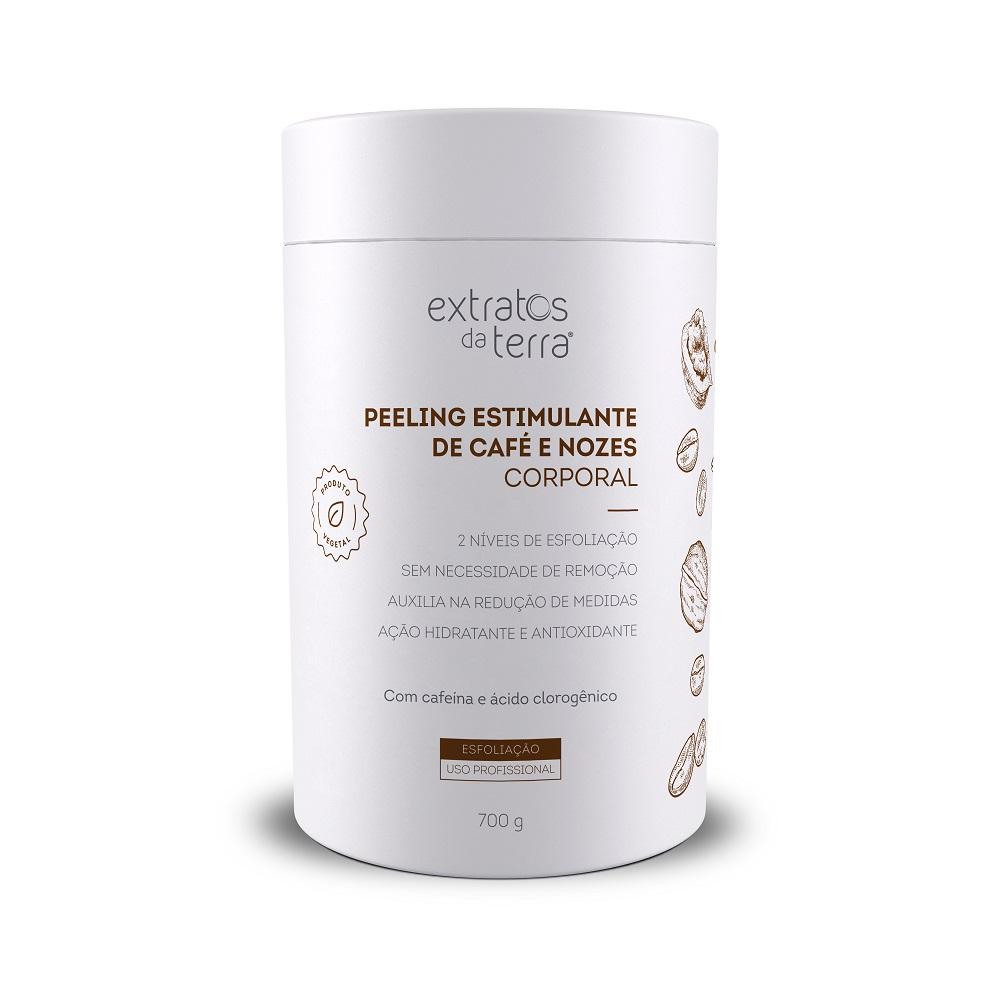 Peeling Estimulante de Cafe e Nozes 700g Extratos da Terra