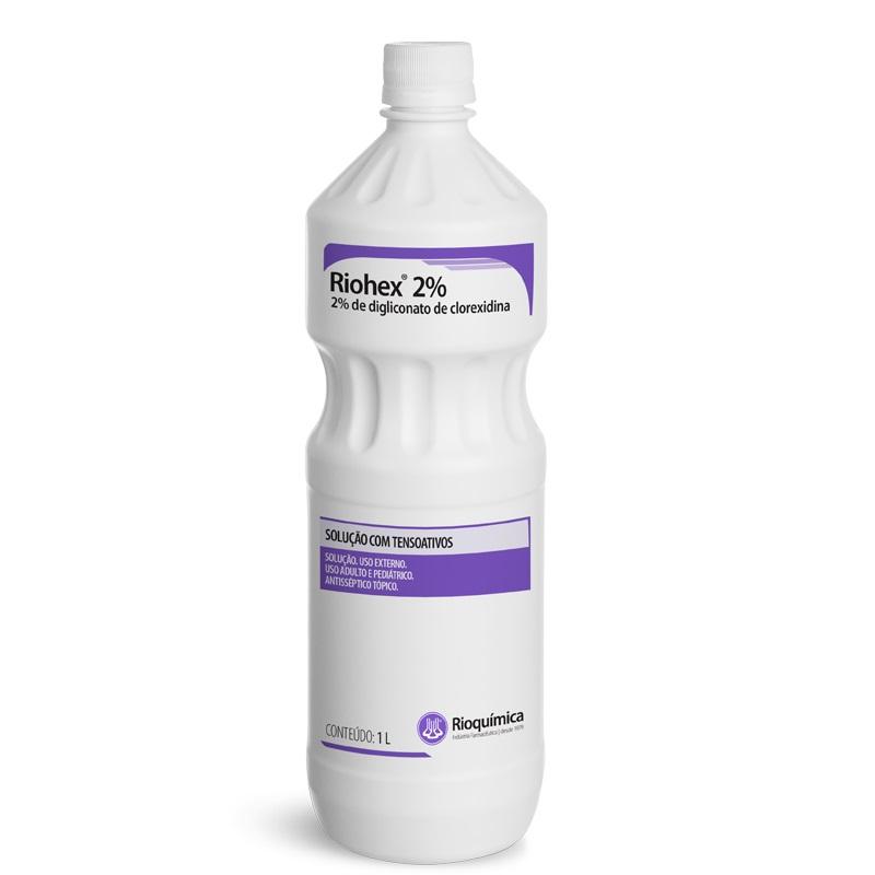 Riohex Clorexidina 2% Sol com Tensoativo 1 Litro