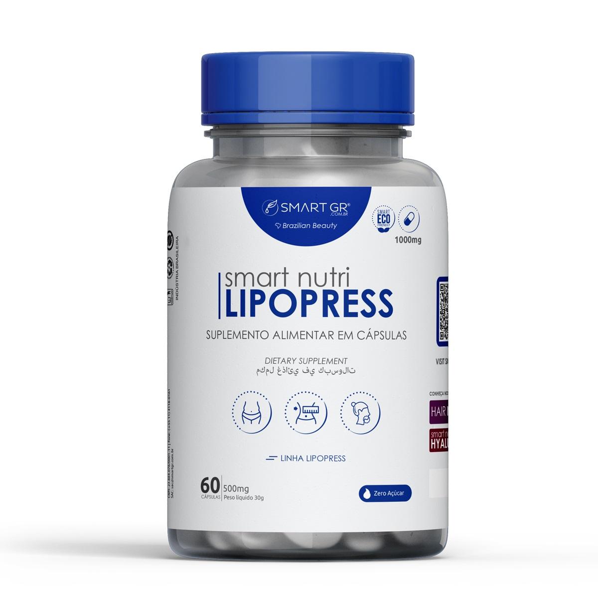 Smart Nutri Lipopress Suplemento Alimentar com 60 capsulas