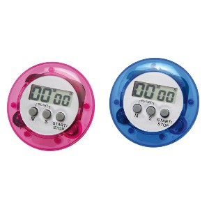 Timer Digital Redondo Cores Sortidas Cod. 1446