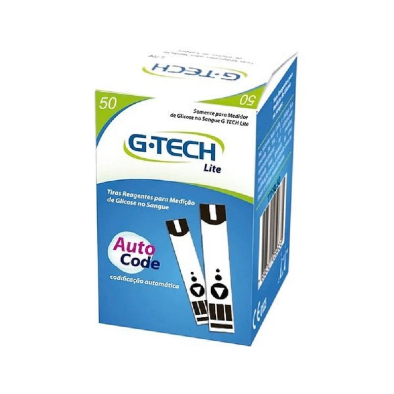 Tiras Reagentes de Teste G-Tech Free Lite caixa com 50 tiras