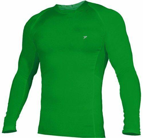 0c67e7316cbad Camisa De Compressão Termica Poker Skin Manga Longa - Verde - SPORT CENTER  JARAGUÁ