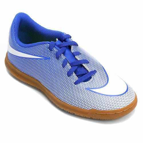 a7be5c05002 Tenis Futsal Nike Bravatax 2 Infantil Azul - SPORT CENTER JARAGUÁ