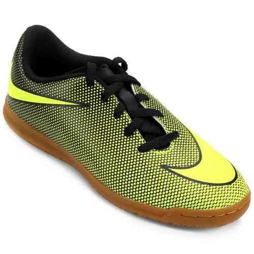 86c1a6ecc4f Tenis Futsal Nike Bravatax 2 Infantil Limão - SPORT CENTER JARAGUÁ