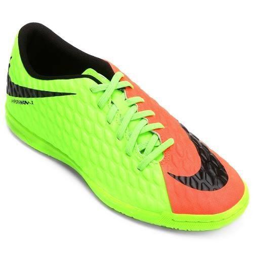 c73701a2f1 Tenis Futsal Nike Hypervenomx Phade 3 Adulto Verde - SPORT CENTER JARAGUÁ