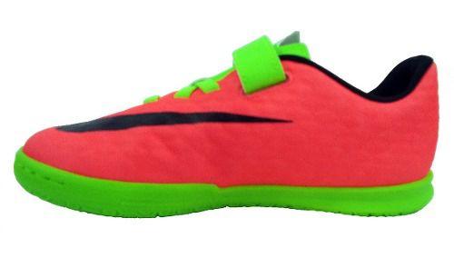 9d09f8f7104 Tenis Futsal Nike Hypervenomx Phd 2 Infantil Verde - SPORT CENTER JARAGUÁ