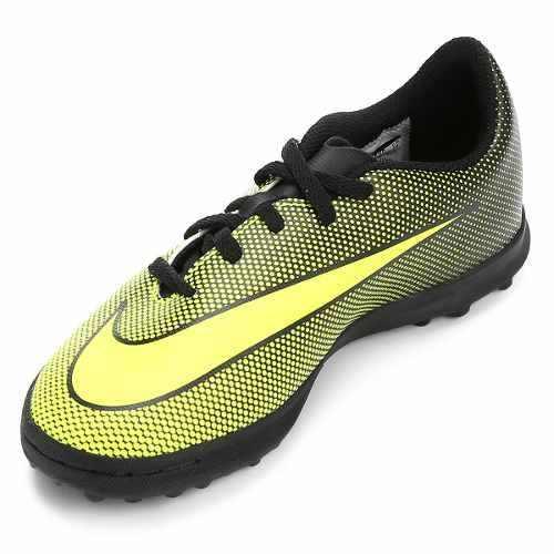 Chuteira Society Nike Bravatax 2 Infantil Preto - SPORT CENTER JARAGUÁ 93bea1fbaf6f8