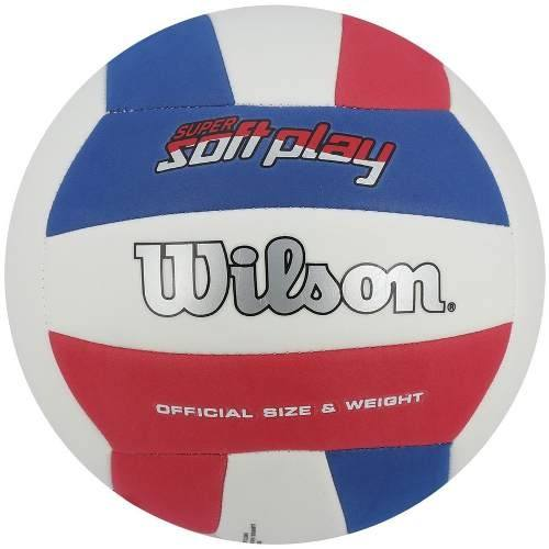 80339a328a Bola De Volei Wilson Super Soft Play Bco azul - SPORT CENTER JARAGUÁ