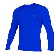Camisa De Compressão Termica Poker Skin Manga Longa - Azul cab28d2bfe4b0