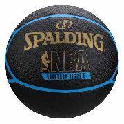 Bola De Basquete Spalding Highlight Preto azul Adulta d5851cfe8f9ed