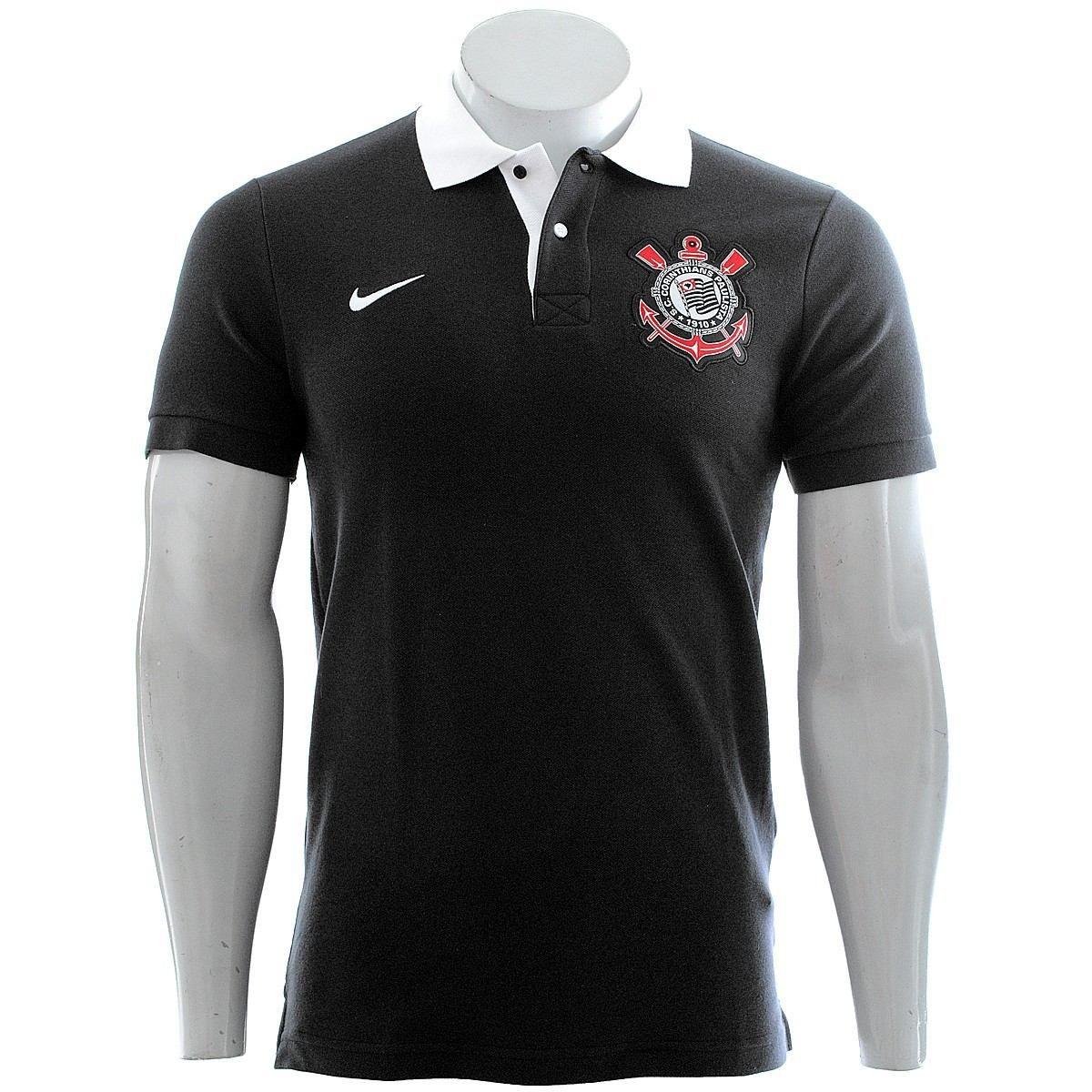0753fc8f6d Camisa Polo Corinthians Nike Core Matchup Preta - Promoção - SPORT ...
