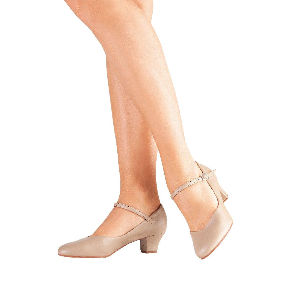 5cf1979b68 Sapato Dança de Salão Só Dança Napa Salto 4cm Bege - SPORT CENTER JARAGUÁ