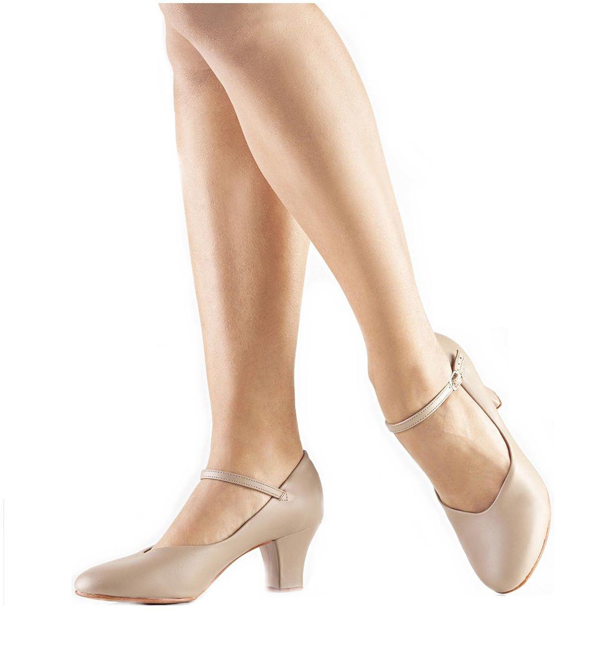 2d9ca9c1e4 Sapato Dança de Salão Só Dança Napa Salto 5cm Bege - SPORT CENTER JARAGUÁ
