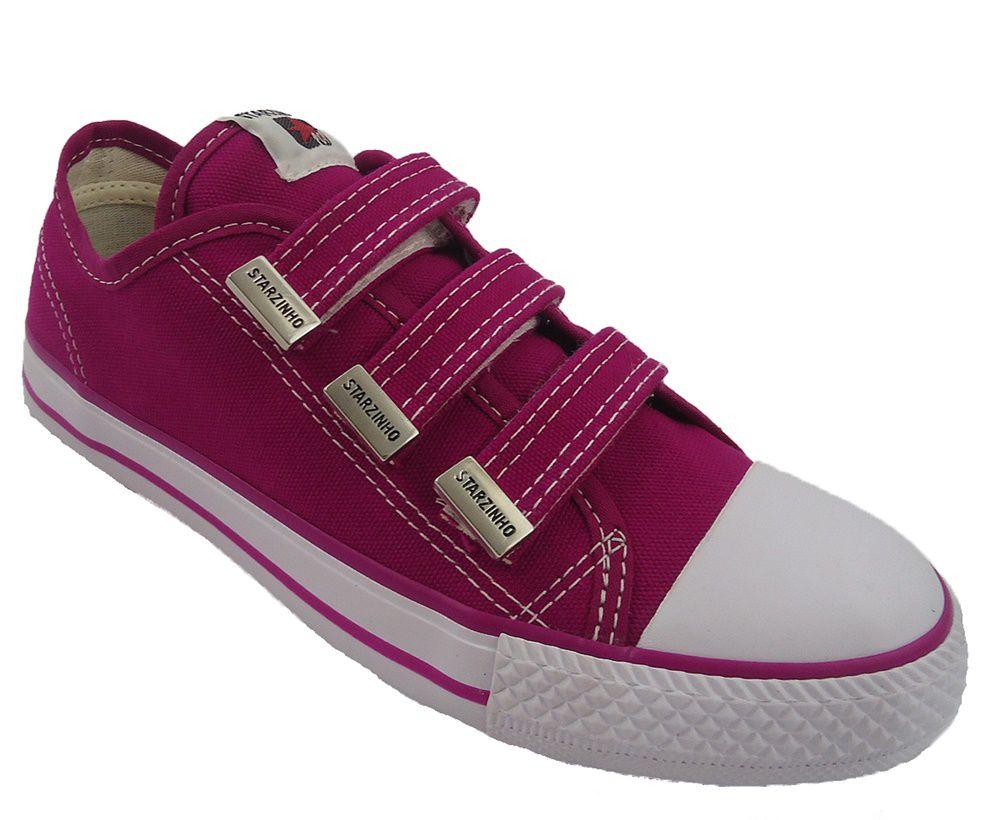 Tenis Super Star Infantil Sem Cadarço 34 ao 36 Pink 255b3fcc261c4