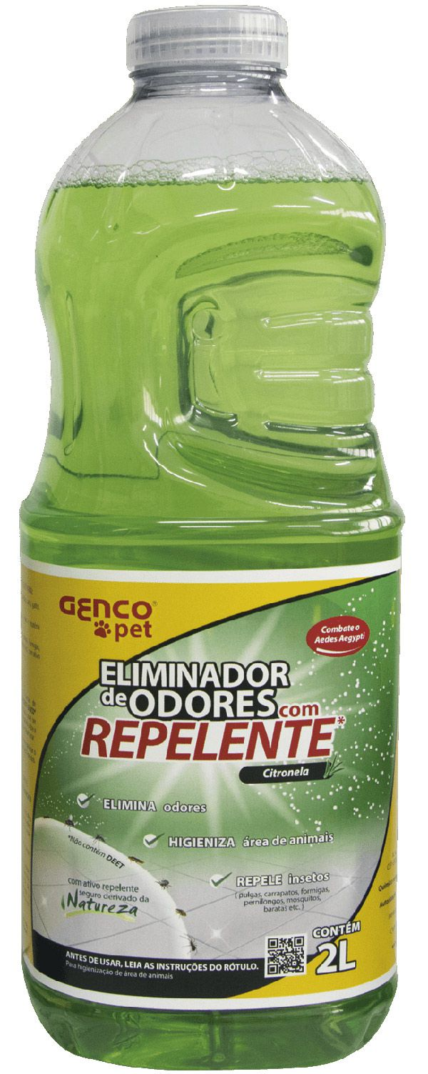 ELIMINADOR DE ODORES COM REPELENTE | Fragrância: Citronela | CAIXA COM 6 UNID DE 2 LITROS
