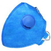 60 Máscaras Respirador Dobrável Válvula Pff1 Poeiras E Névoa