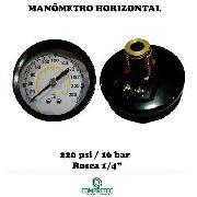 Manômetro Medidor Pressão Compressor Horizontal 1/4 0-220psi