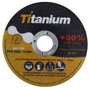 Disco de corte Titanium 1x115x22,2mm Aço Inox caixa com 100pçs