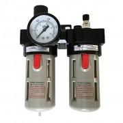 Filtro Lubrifil Regulador de pressão tira água e lubrifica Ferramenta 1/2
