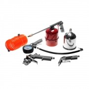 Kit 5 pçs mangueira pistola de pintura pulverizador bico de ar e calibrador