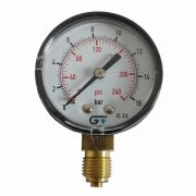 Manômetro Genebre De Pressão Vertical 240 Psi/16 Bar 1/4 Bsp