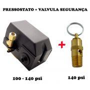 Pressostato Automático Alav.+ Válvula Segurança 100 - 140psi