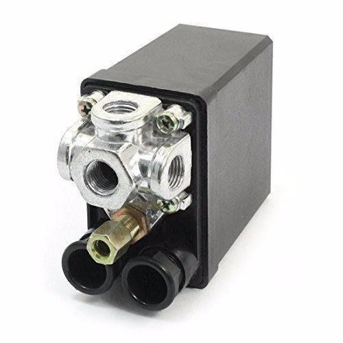 Pressostato Compressor Automático botão 80 - 120 psi 4 vias