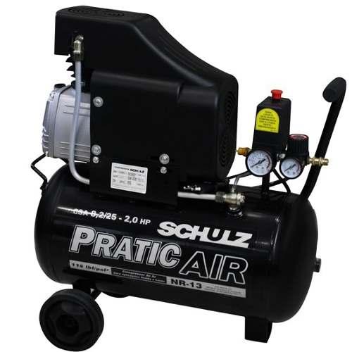 Motocompressor De Ar 8,2 Pés 25 Litros 220v Csa Schulz
