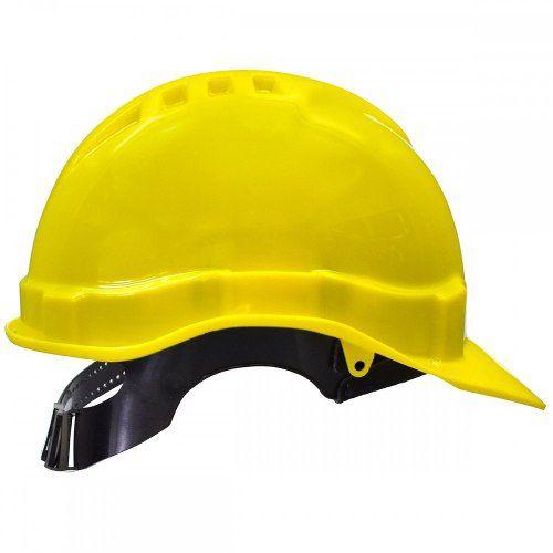 Kit 4 Capacetes Segurança Amarelo Libus Suspensão Carneira