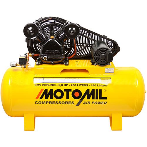 Compressor De Ar 20 Pés (pcm) Cmv20pl/200l Trifásico Motomil