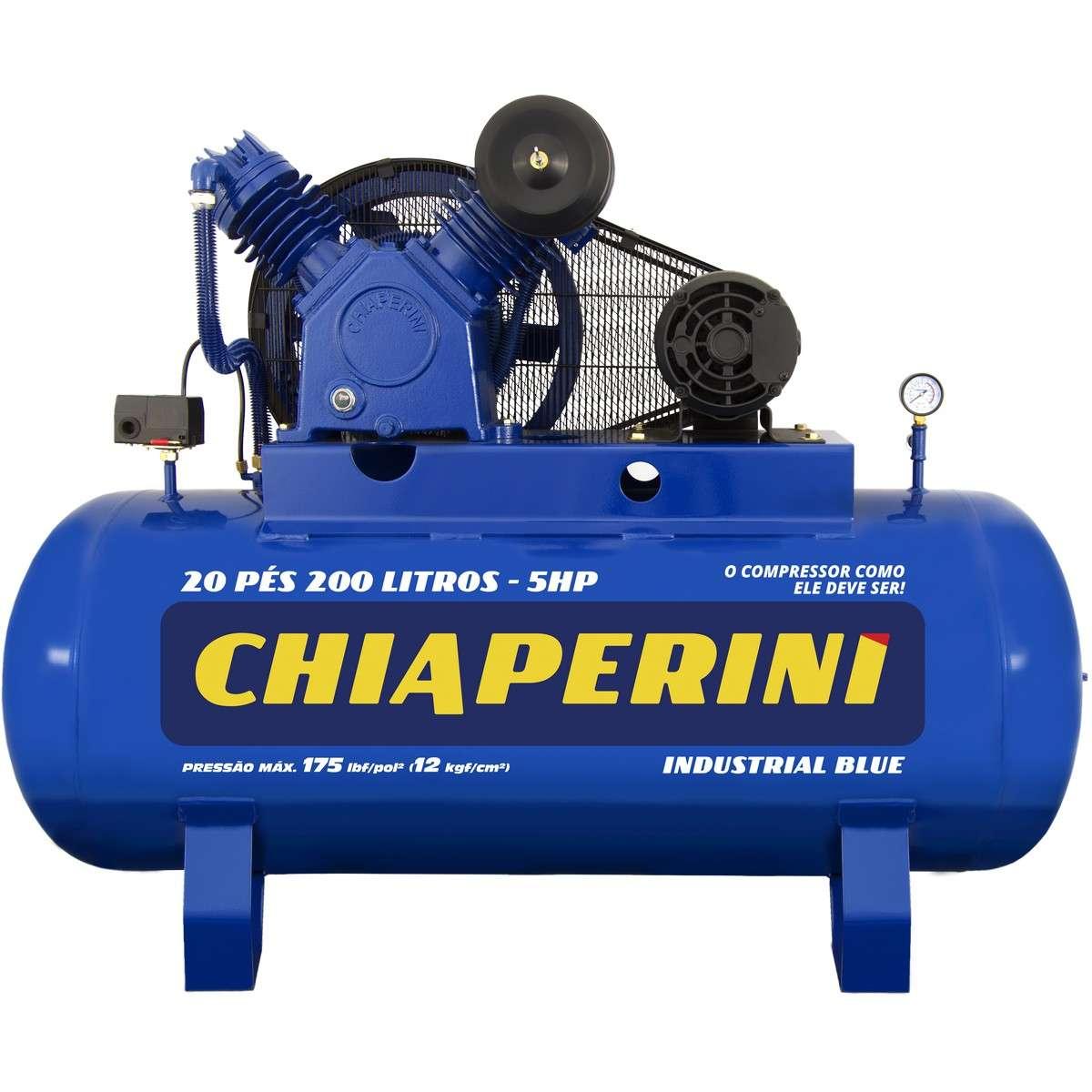 Compressor De Ar Chiaperini 20 Pcm (pés) 200 Litros Blue
