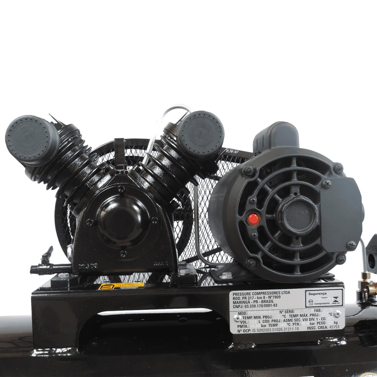 Compressor De Ar Pressure 10 Pés (pcm) 100l - Trifásico