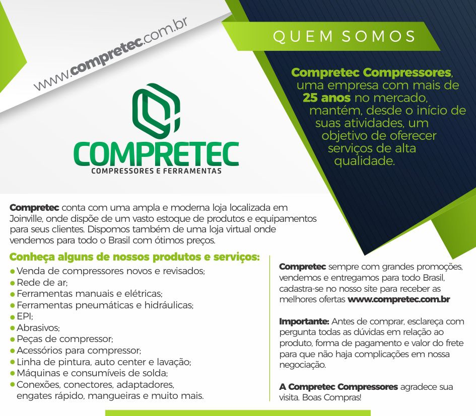 Compressor De Ar Pressure 20 Pcm 175lbs 200 Lts Onp Ônix Pro