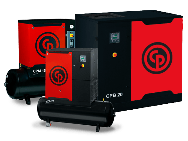 Compressor Rotativo Parafuso  CPM 10HP CHICAGO PNEUMATIC