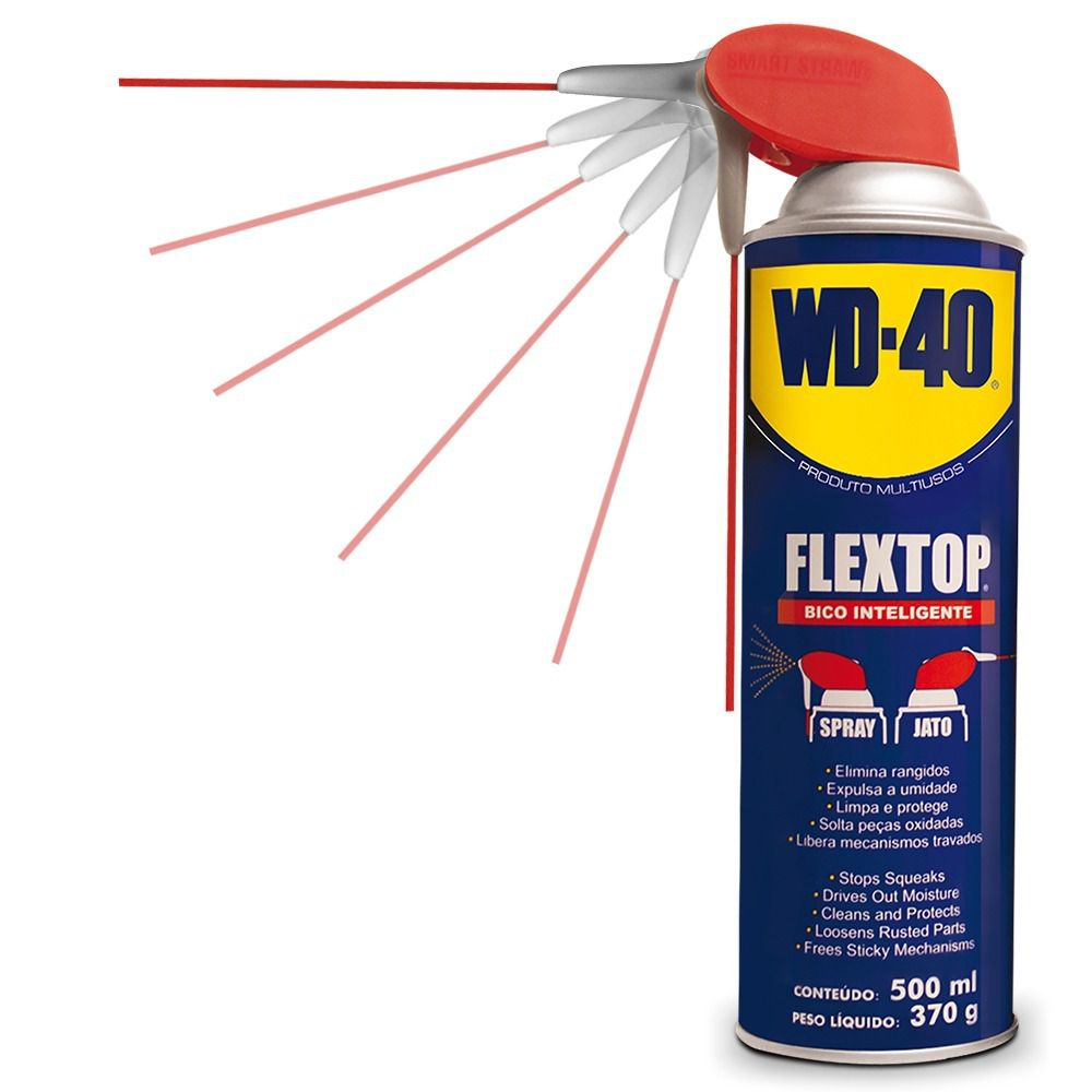 Desengripante Spray Multiuso WD-40 500ml Bico inteligente