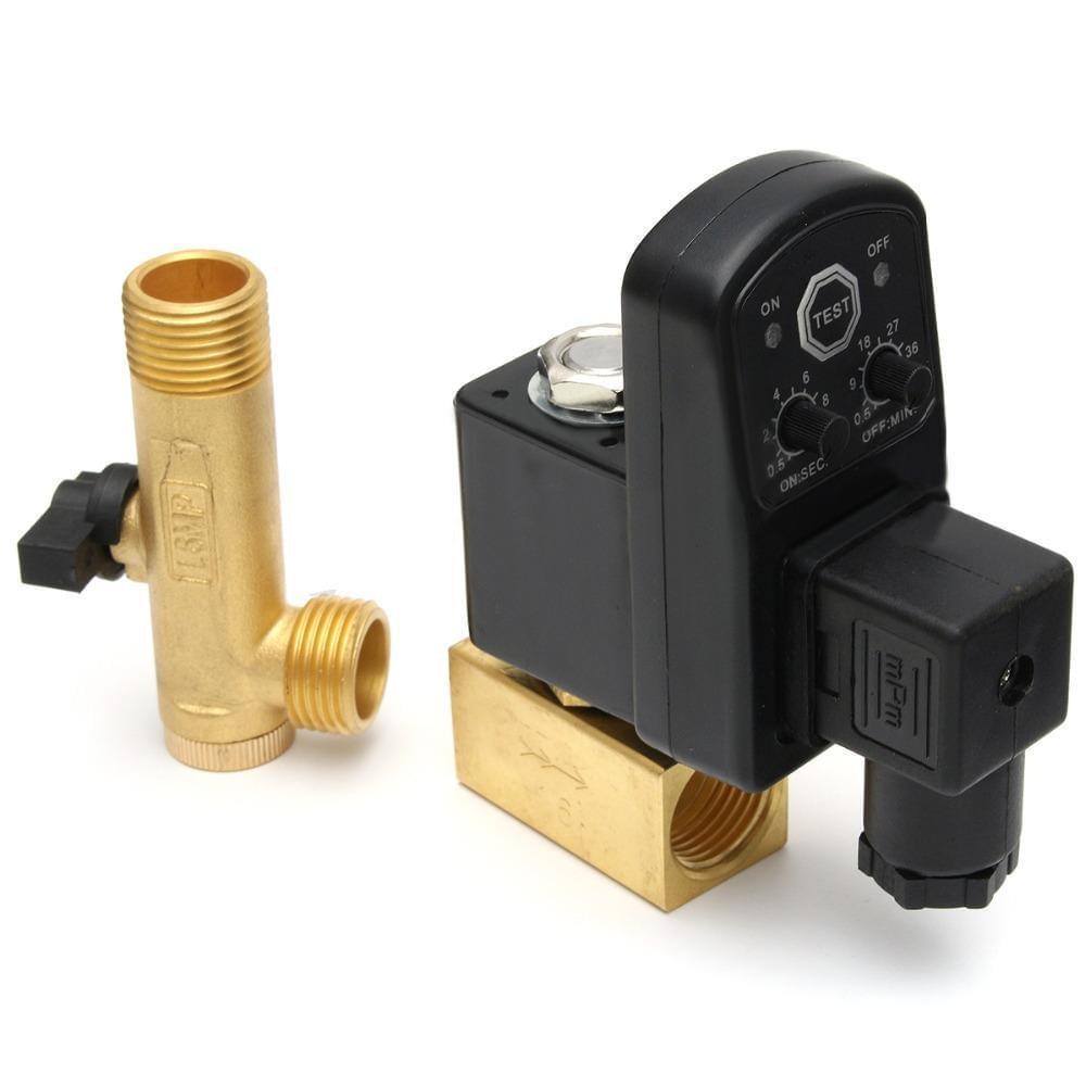 Dreno Purgador automático temporizado 1/2 com filtro y